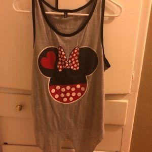 Minnie Mouse bow tank size L